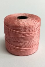 BeadSmith Super-Lon Nylongarn Standard TEX 210, Farbe 60 coral pink