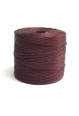 BeadSmith Super-Lon Nylongarn Standard TEX 210, Farbe 70 burgundy