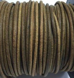 Lederkordel rund Ø 2 mm, natural light brown