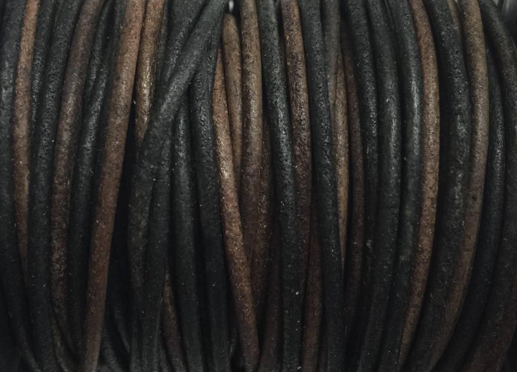 Lederkordel rund Ø 1,5 mm, natural gipsy brown