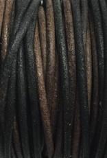 Lederkordel rund Ø 1 mm, natural gipsy brown