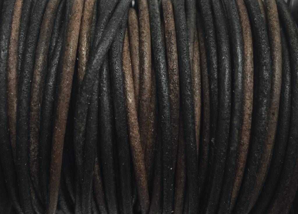 Lederkordel rund Ø 1 mm, natural gipsy brown