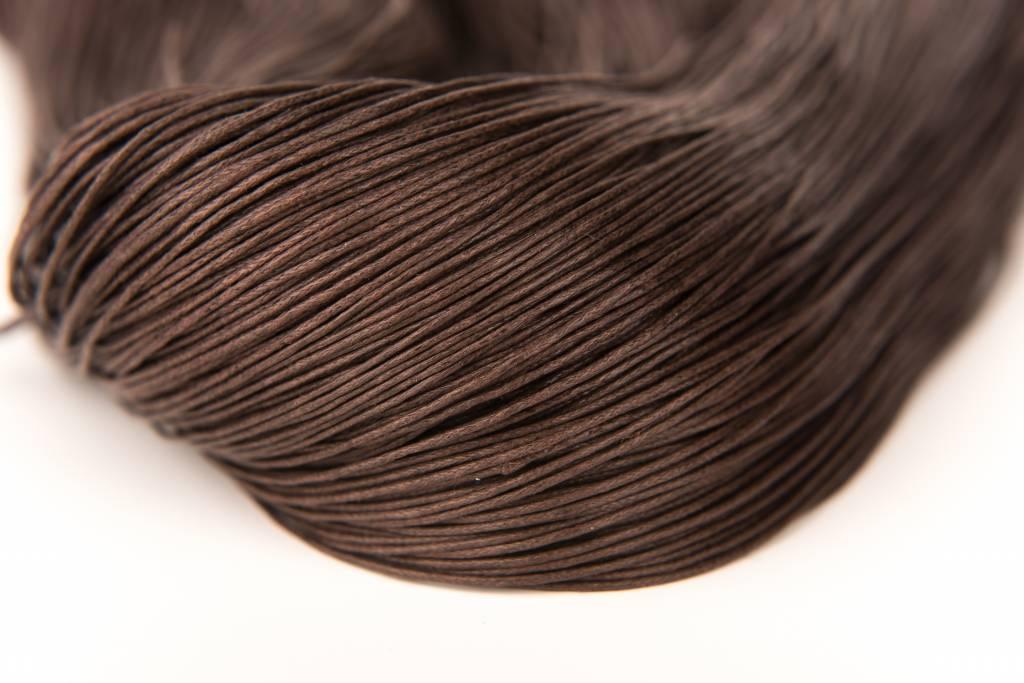 gewachste Baumwollkordel 1mm, Farbe 10 chocolate