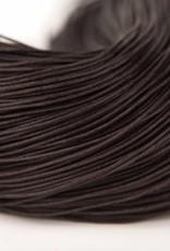 gewachste Baumwollkordel 1mm, Farbe 11 dark chocolate