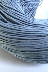 gewachste Baumwollkordel 1mm, Farbe 26 graublau