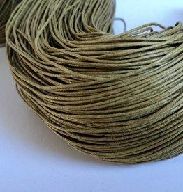 gewachste Baumwollkordel 1mm, Farbe 15 hell olive