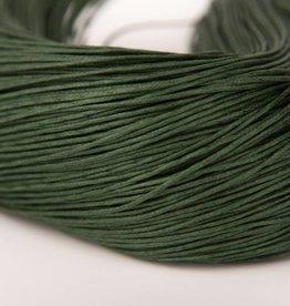 gewachste Baumwollkordel 1mm, Farbe 19 tannengrün