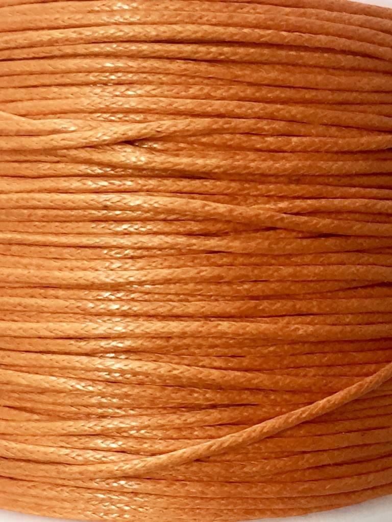 gewachste Baumwollkordel 1mm, Farbe 39 tangerine