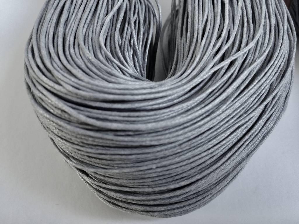 gewachste Baumwollkordel 1mm, Farbe 03 hellgrau