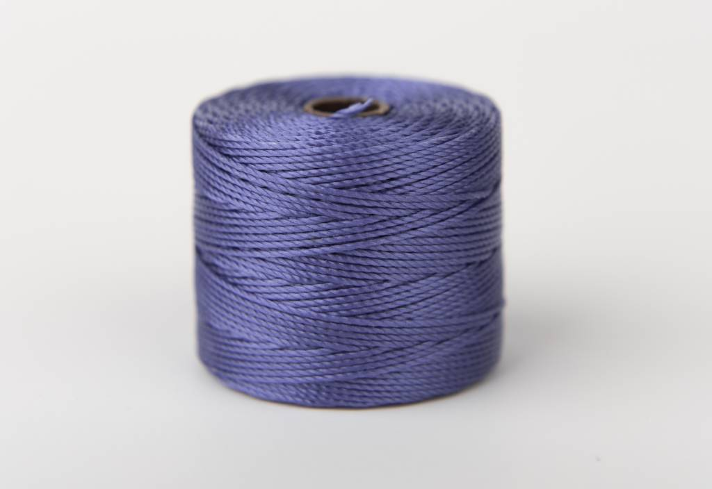 BeadSmith Super-Lon Nylongarn Standard TEX 210, Farbe 44 periwinkle blue