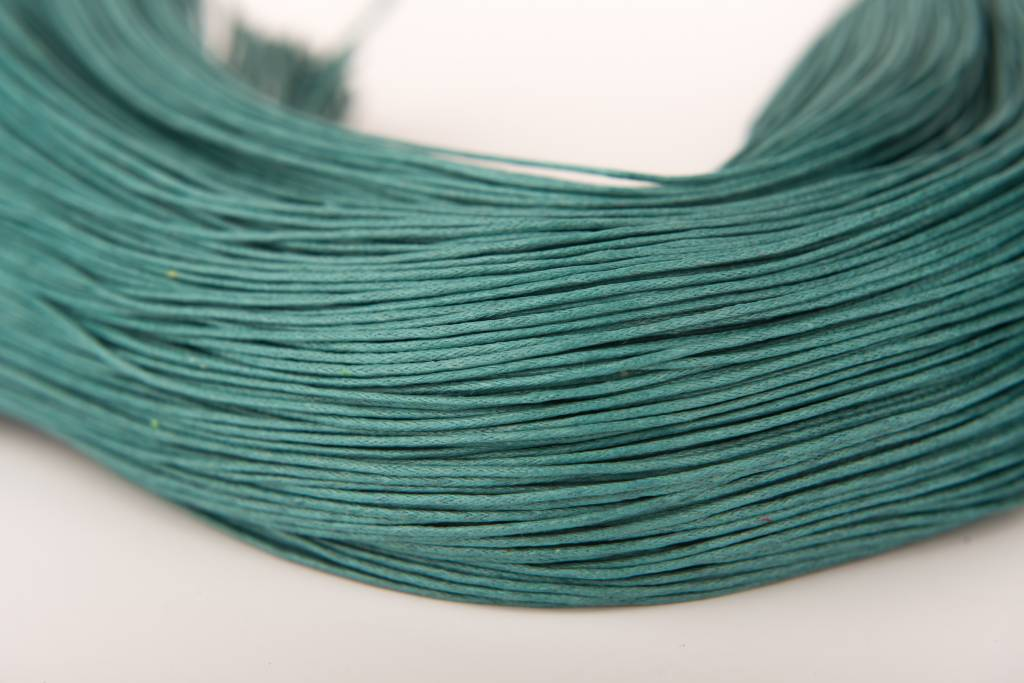 gewachste Baumwollkordel 1mm, Farbe 21 teal