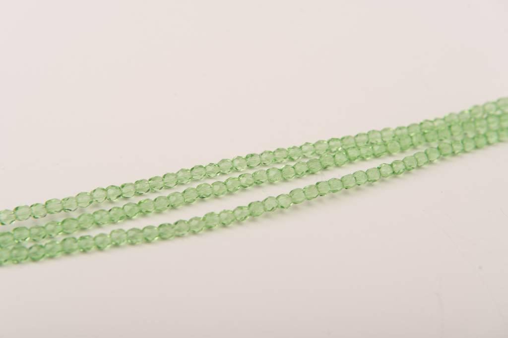 Glasschliffperlen feuerpoliert 4mm, Farbe 41 Green light