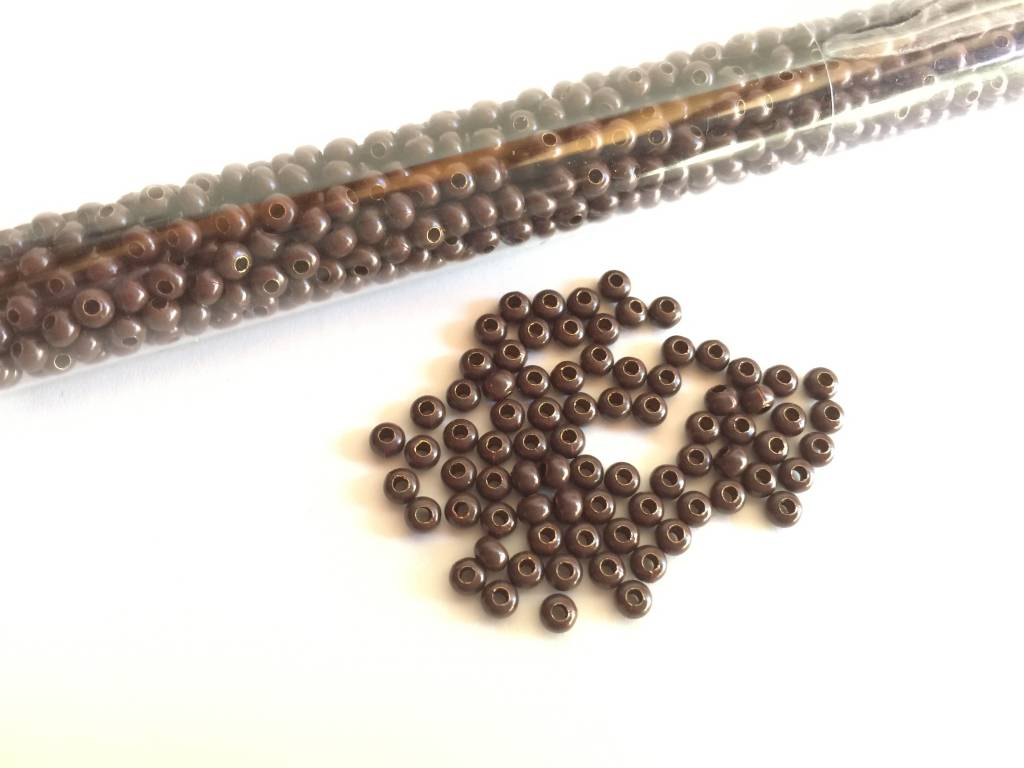Metallperlen 8/0 - Heavy Metal Seed Beads - dark brown