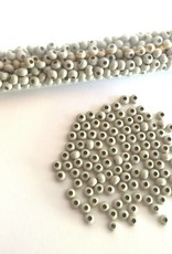 Metallperlen 8/0 - Heavy Metal Seed Beads - beige