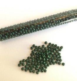 Metallperlen 8/0 - Heavy Metal Seed Beads - dark green