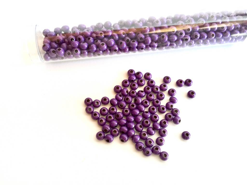 Metallperlen 8/0 - Heavy Metal Seed Beads - purple