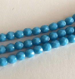 Glasschliffperlen feuerpoliert 4mm, Farbe 33 Aqua opaque