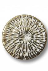 Metallknopf mit Webmuster ø 13 mm, altmessing/weiss