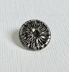 Metallknopf mit Webmuster ø 13 mm, altsilberfarben