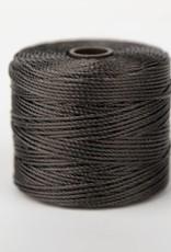 BeadSmith Super-Lon Nylongarn Standard TEX 210, Farbe 12 dark brown