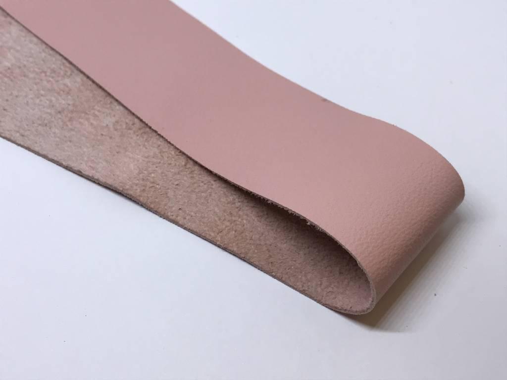 Altrosa Farbe lederstreifen 3 cm für sami kaufen bei bead more