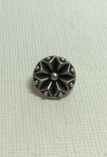 Metallknopf Geo-Flower ø 12 mm, altsilberfarben