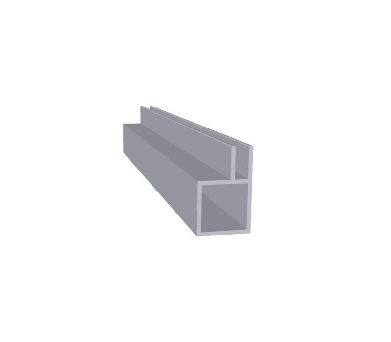 Aluminium Koker 20 x 20 x 1,5 mm - 1 Flens 4mm - 30 meter in 3000 mm
