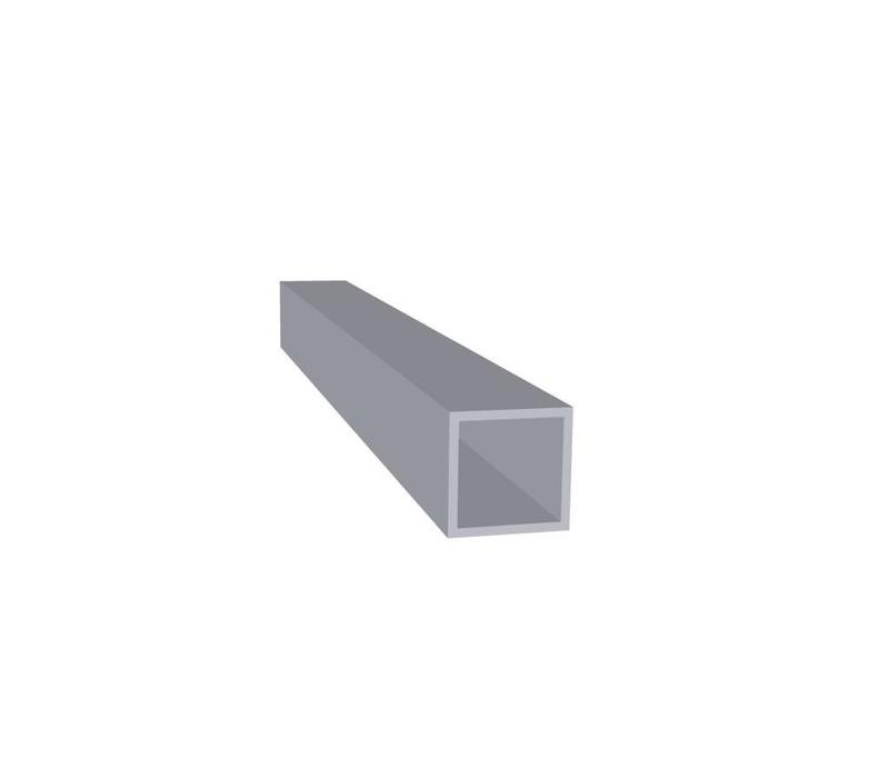 Aluminium Koker 20 x 20 x 1,5 mm - 60 meter in 6000 mm