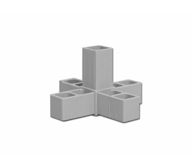 5-Weg  (Hoek) - 20 X 20 X 1,5mm