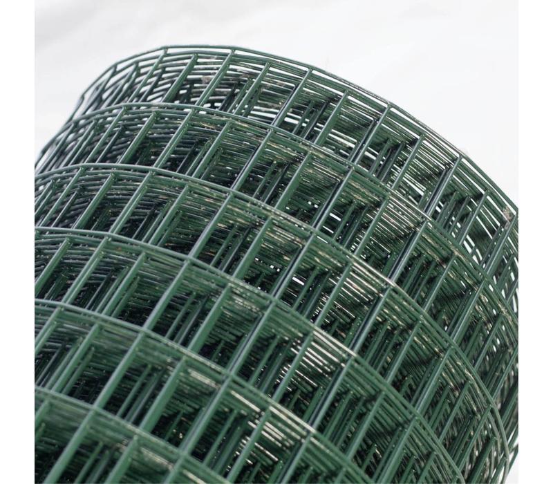 Esafort Gaas 12,7 x 12,7 x 1,3 mm - 0,9 mm geplastificeerd gaas (Groen) - Lengte: 25 meter