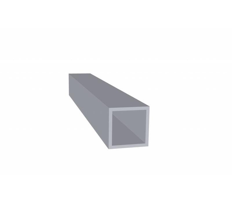 Aluminium Koker 25 x 25 x 2,0 mm - 60 meter in 6000 mm