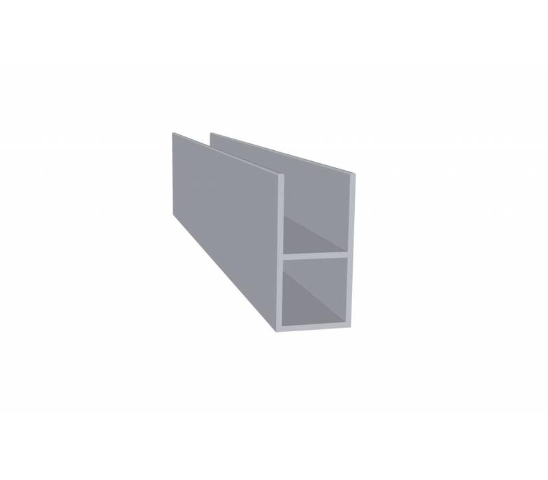 Aluminium Koker 20 x 20 x 1,5 mm - 1 Flens 16mm - 48 meter in 6000 mm