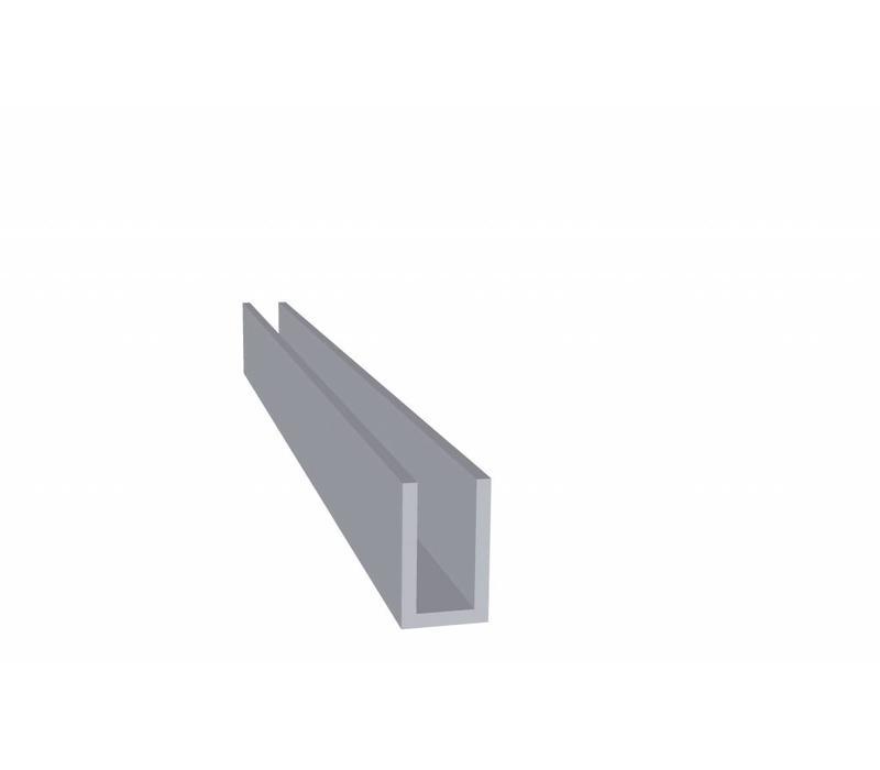 Aluminium Koker 20 x 12 x 20 x 2,0 mm - U Profiel - 120 meter in 6000 mm
