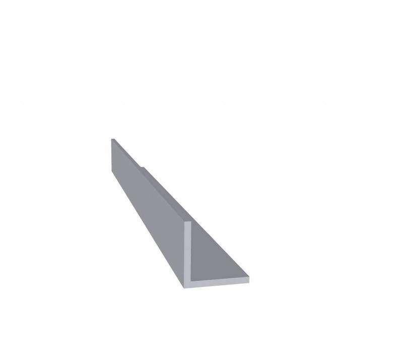 Aluminium profiel 20 x 20 x 2,0 mm - Hoeklijn - 30 meter in 3000 mm