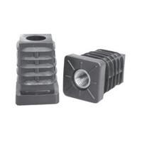 20 x 20 x 1,5mm Inslagdop + Stelpoot - Zwart