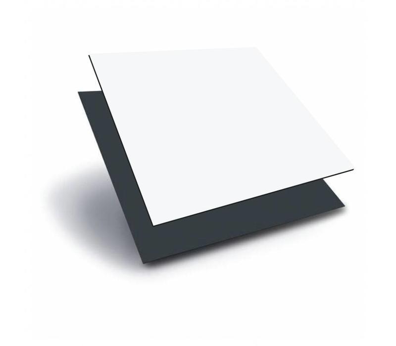 ACP (Aluminium composiet panels) 1000 x 2000 x 3,0mm - Wit (RAL 9010) / Antraciet (RAL 7016)