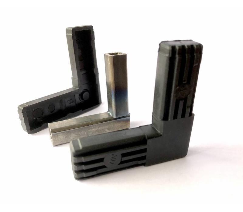 2-Weg (L) met stalenkern - 20 x 20 x 1,5mm