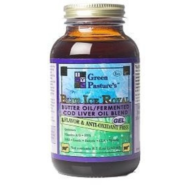 Green Pasture 'Blue Ice Royal Butter Oil' Fermented Cod Liver Oil Mischung, 240ml