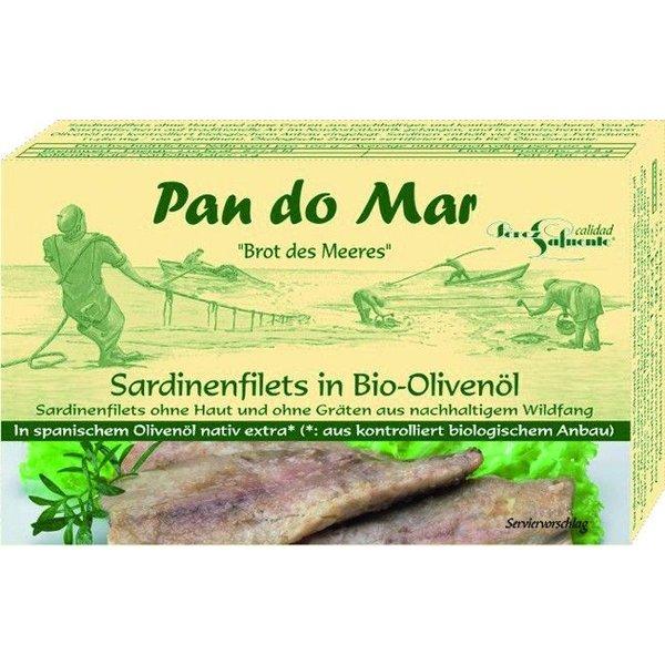 Pan do Mar - Sardinenfilets in Bio-Olivenöl, 120g