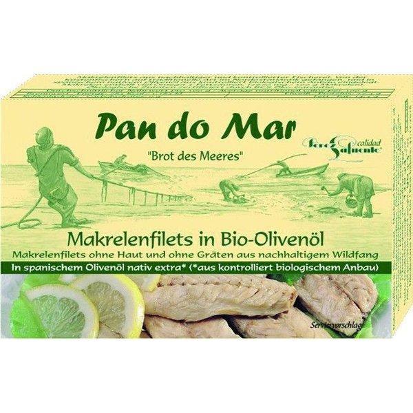 Pan do Mar - Makrelenfilets in Bio-Olivenöl, 120g