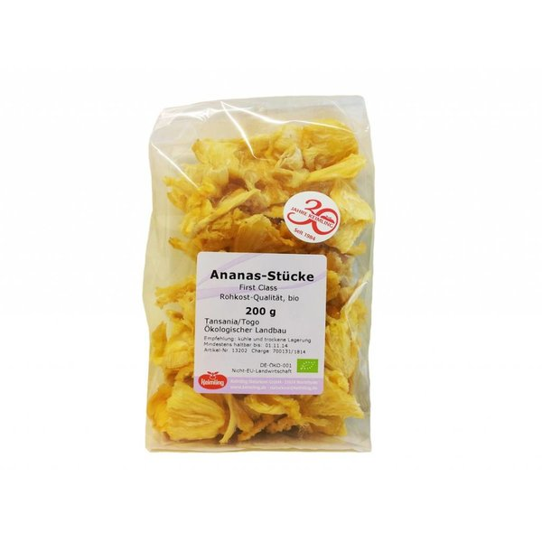 Keimling - 'Ananas-Stücke First Class' Trockenfrucht, 200g