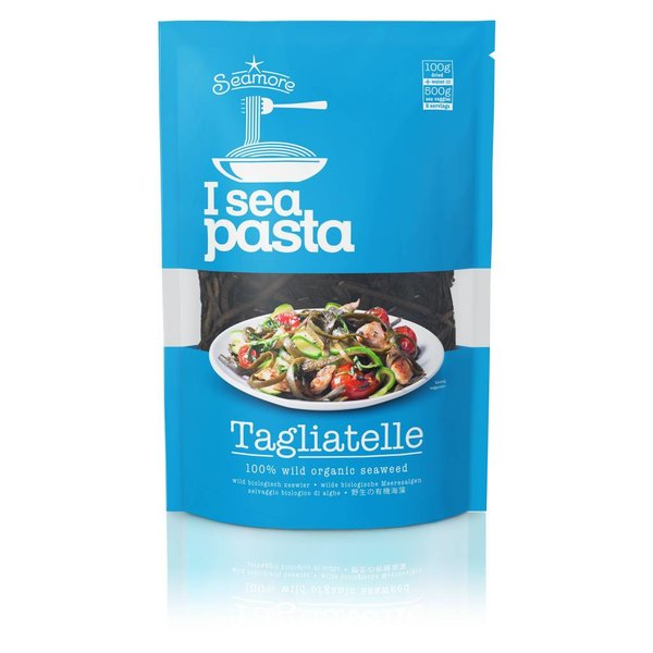 I sea pasta - Algen Pasta, Nudeln, Tagliatelle, 100g