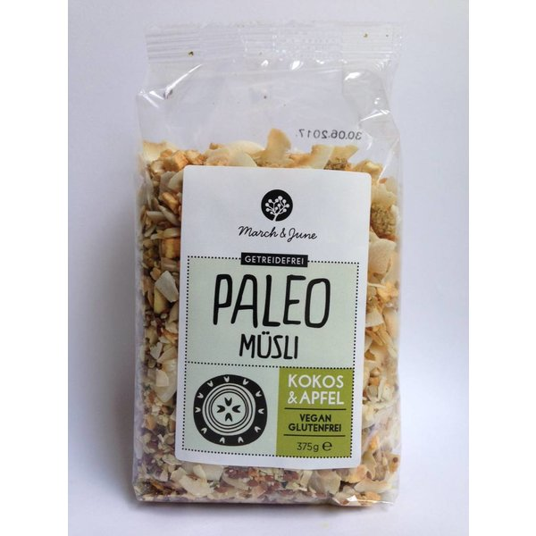 March & June - Paleo Müsli Kokos & Apfel, 375g