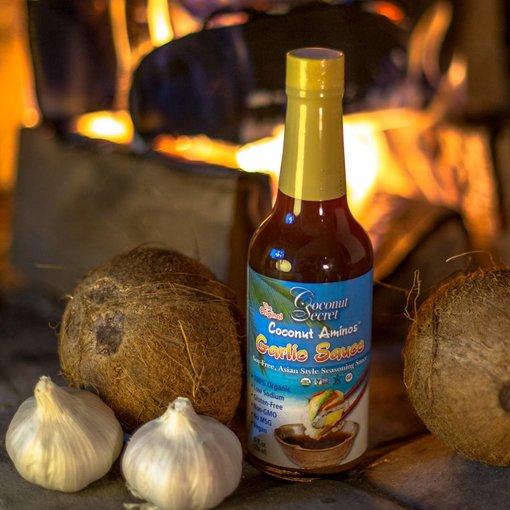 Coconut Secret Coconut Secret - Raw Coconut Aminos, Knoblauch-Sauce, 296ml - MHD 13.6.18
