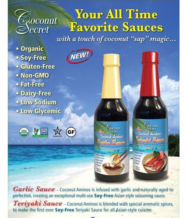 Coconut Secret Coconut Secret - Raw Coconut Aminos, Teriyaki Sauce, 296ml