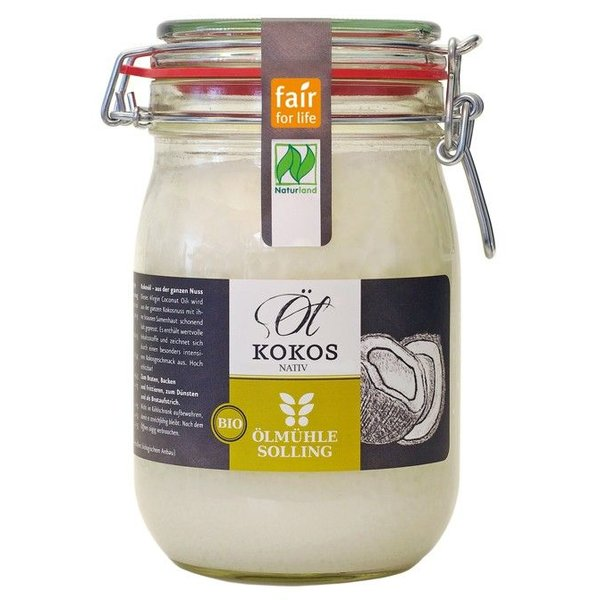 Bio-Kokosöl nativ Naturland, 1000 ml - Copy