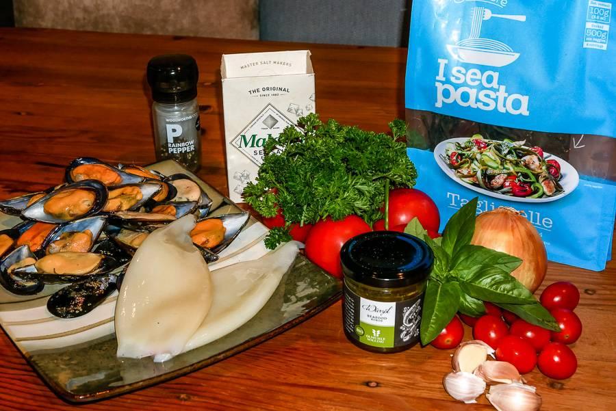 Paleo Rezept -  Meeresfrüchte Algen Pasta - Seafood Pasta mit I Sea Pasta von Seamore