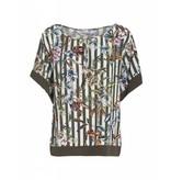 Summum 2s1990-10508 120 Summum Women Top short sleeve striped flower print Multicolour
