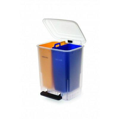 Faplana Recycle Bin Duo (2x10 liter) (Geel/Blauw)