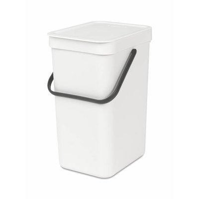 Brabantia Sort&Go afvalemmer - 12 liter - wit